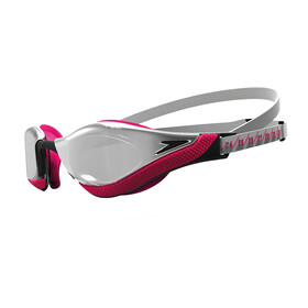 speedo Fastskin Pure Focus Mirror Okulary pływackie, silver/psycho red/black/chrome